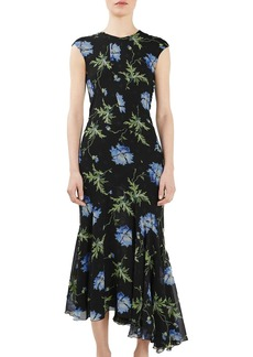 Topshop Unique Evelyn Silk Midi Dress