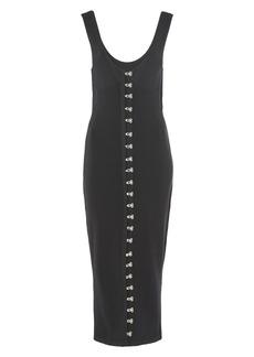 Topshop Unique Hook Front Pointelle Midi Dress
