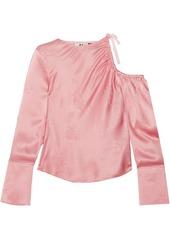 Topshop topshop unique lambeth cutout silk jacquard blouse abvaa287536 a