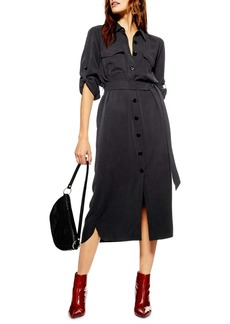 Topshop Utility Midi Shirtdress