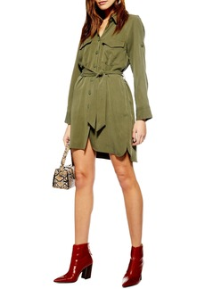 Topshop Long Sleeve Utility Shirtdress