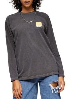 Topshop Utopia Long Sleeve Skater Top