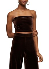 Topshop Velour Tube Top