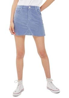 Topshop Velvet Miniskirt