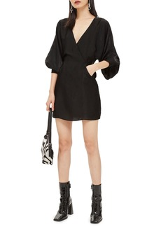 Topshop Velvet Satin Minidress