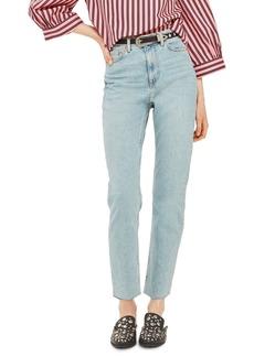 Topshop Vintage Bleach Raw Hem Straight Leg Jeans