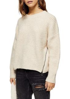 Topshop Waffle Texture Sweater (Petite)