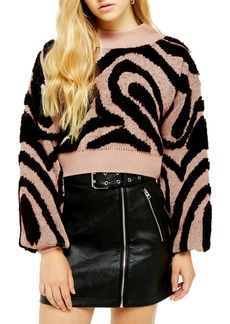 Topshop Wave Pattern Sweater