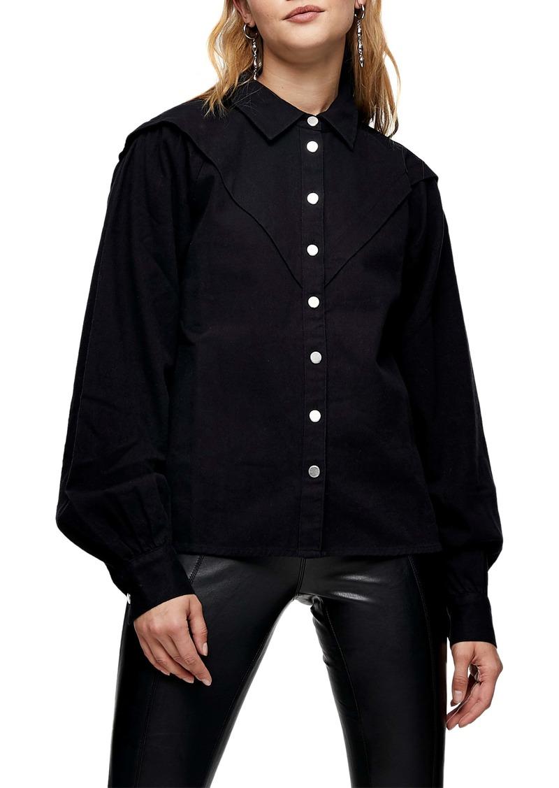 Topshop Western Denim Shirt