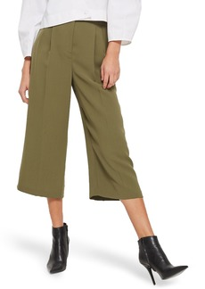 Topshop Wide Crop Utility Trousers