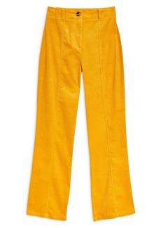 Topshop Wide Leg Corduroy Trousers
