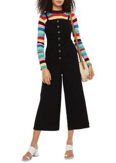 Topshop Wide Leg Crop Jumpsuit