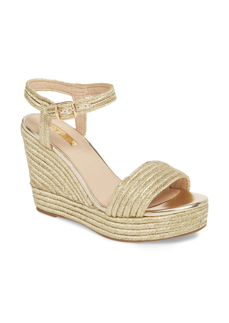 b88c04e0fd83 Topshop Topshop Wild Rope Platform Wedge Sandal (Women) | Shoes