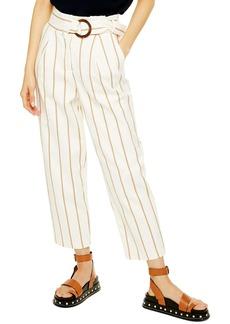 Topshop Wilma Stripe Peg Trousers