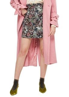 Topshop Woodland Jacquard Skirt