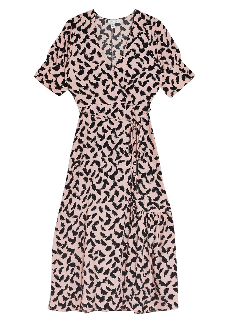 Topshop Wrap Midi Dress