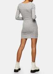 Topshop Wrapped Ruched Minidress
