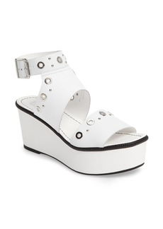 Topshop Wuzz Grommeted Platform Wedge Sandal (Women)