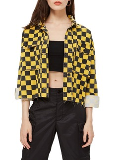 Topshop Yellow Checkerboard Jacket
