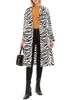 Topshop Zebra Print Duster Jacket