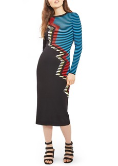 Topshop Zigzag Midi Dress