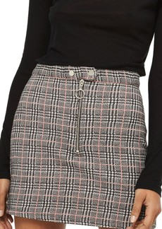 Topshop Zip Check Mini Skirt