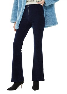 Topshop Zip Flare Corduroy Pants (Regular & Petite)