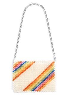 Topshop Zizi Beaded Rainbow Shoulder Bag