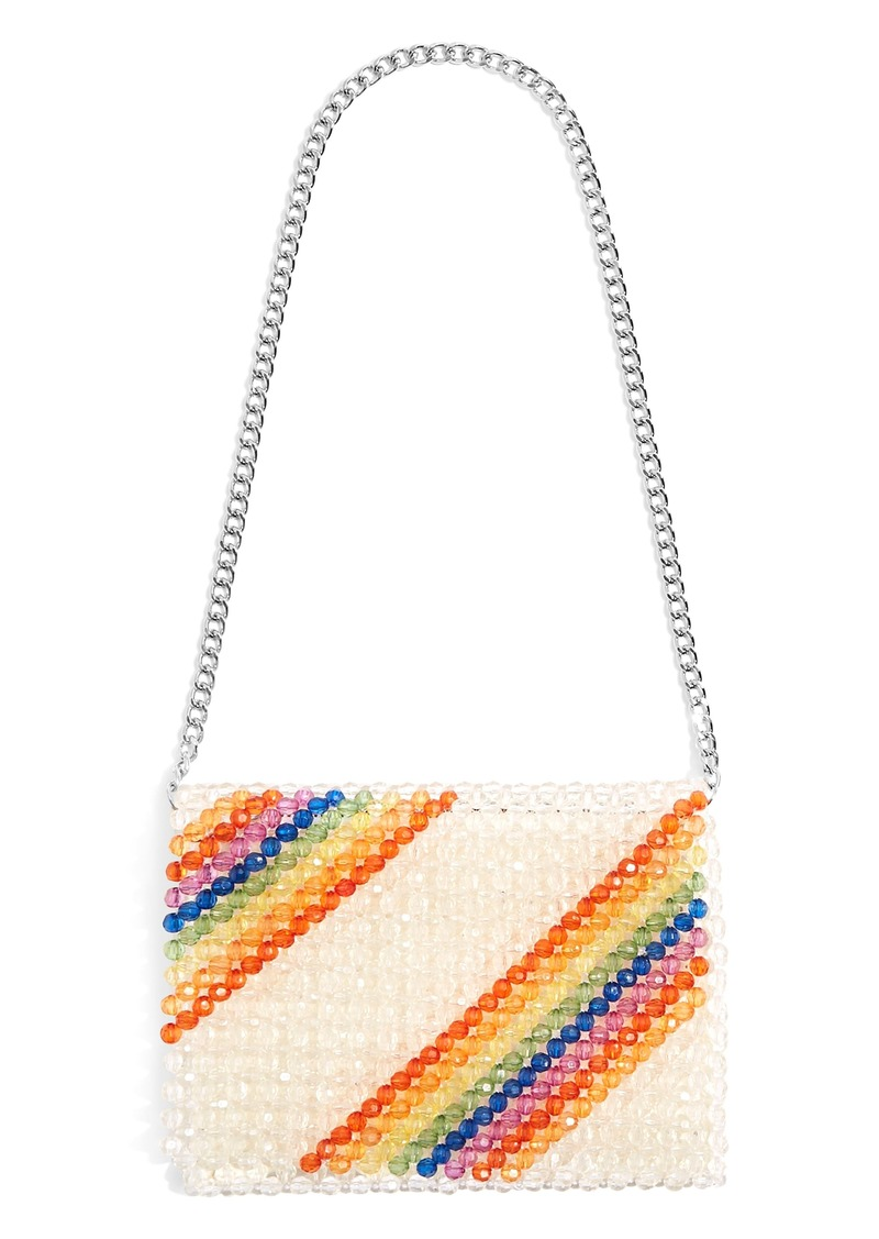 Topshop Zizi Beaded Rainbow Shoulder Bag