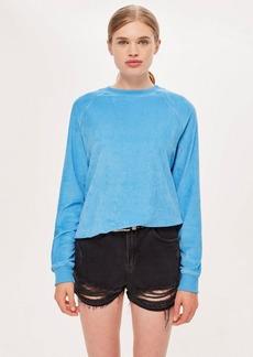 Topshop Towelling Sweatshirt