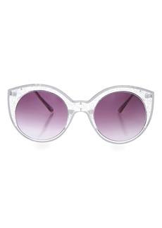 Topshop Tramline Cactus Cateye Sunglasses