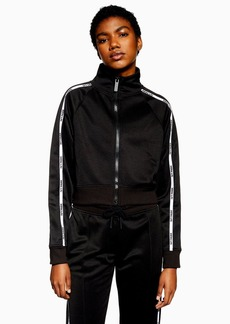 Topshop Tricot Zip Through Jacket By