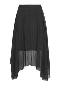 Tulle Asymmetric Midi Skirt