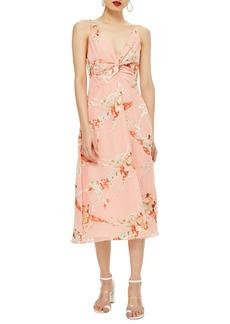 048c652c726 Topshop Twist Front Floral Midi Dress
