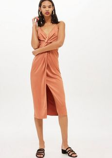 Topshop Twist Front Midi Slip Dress