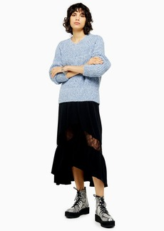 Topshop Twist Raglan Knitted Jumper