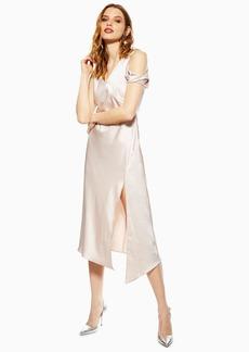 d9006f0eb65 Topshop Twist Shoulder Satin Midi Dress