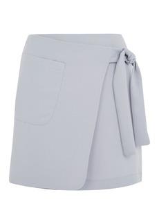 Utility Wrap Tie Mini Skirt