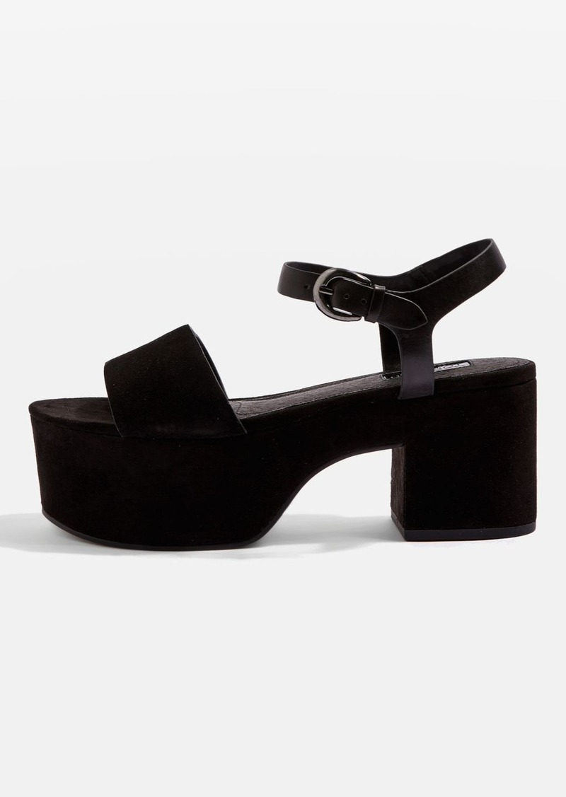 b4a18b0fa Topshop Vavavoom Two Part Flatform Sandals Now  60.00