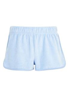 Topshop Velour Runner Shorts