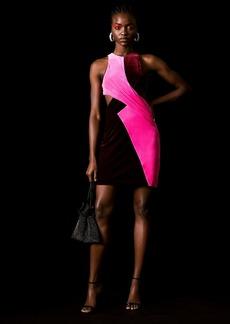 Velvet Dress By Topshop X Halpern