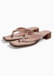 Topshop Verse Blush Pink Leather Mule Sandals