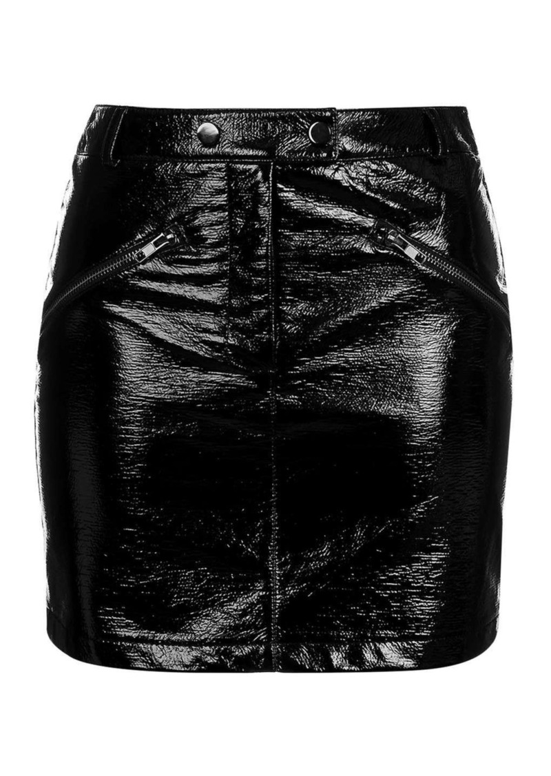 444120368d SALE! Topshop Vinyl Zip Pocket Mini Skirt