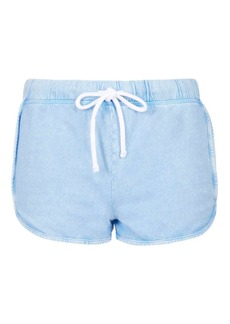 Topshop Washed Stitch Runner Shorts