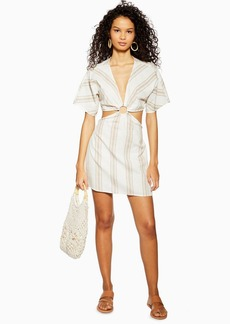 Topshop White Striped Ring Kaftan