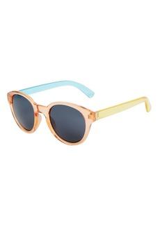 Topshop Whitney Preppy Round Sunglasses