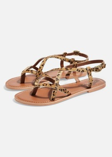 Topshop Wide Fit Hazel Flat Sandals
