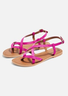 Topshop Wide Fit Hazy Pink Sandals