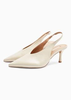 Topshop Wide Fit Jessie Ecru Point Shoes
