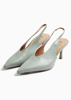 Topshop Wide Fit Jessie Sage Point Shoes
